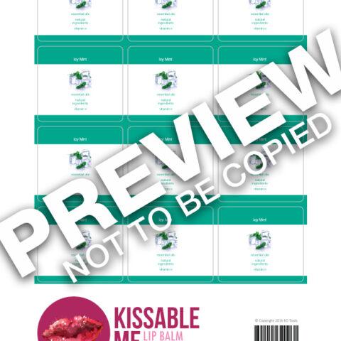 Icy Mint Lip Balm Labels