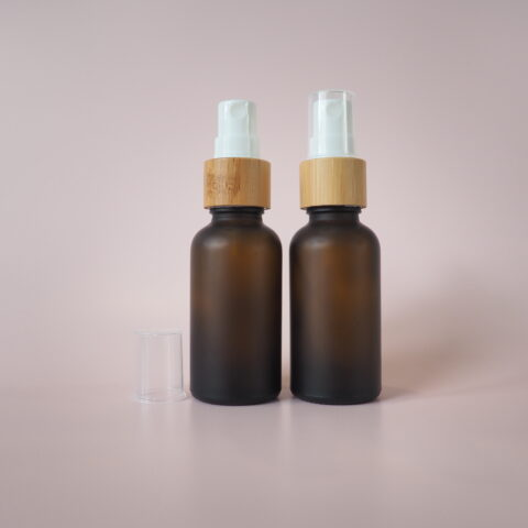 30ml Frosted Amber Bamboo Spray