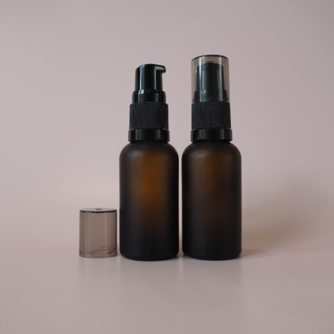 30ml Frosted Amber Pump