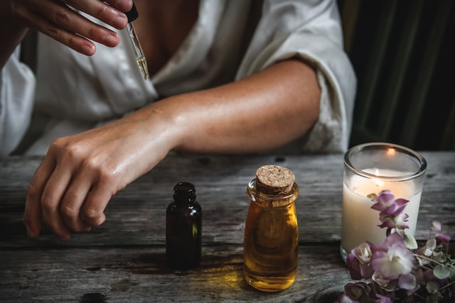 essential oils on skin