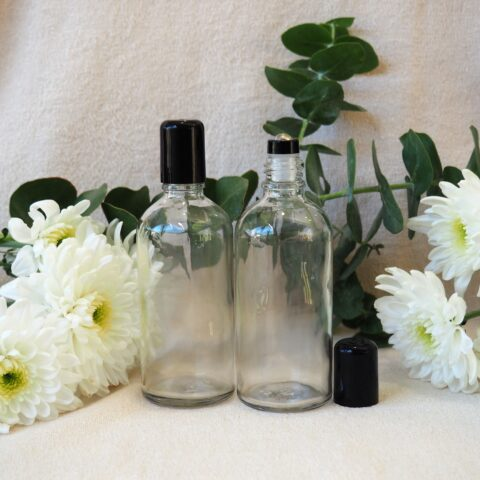 100ml Clear Steel Roller Bottle