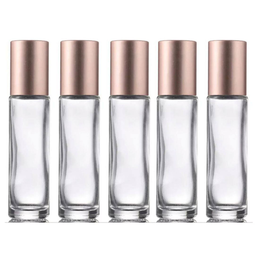 10ml Clear and Rose Gold Roller Bottles