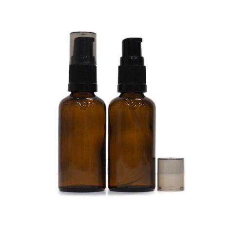 50ml Amber Pump Bottle