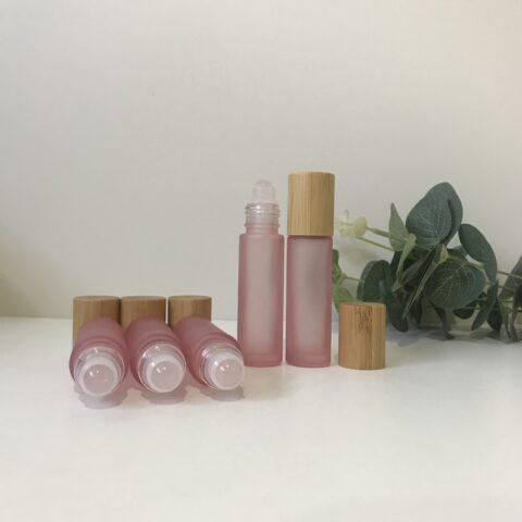 Rose Quartz Blush Pink Roller Bottle