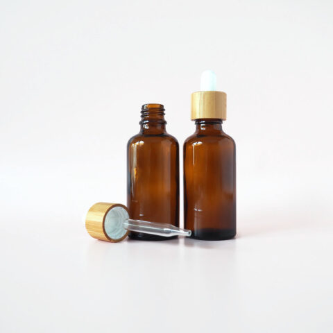 50ml Amber Bamboo Dropper Bottle