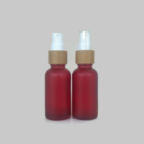 30ml Frosted Red Bamboo Spray Bottle