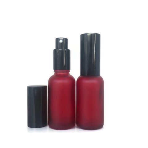 30ml Frosted Red Spray Bottle