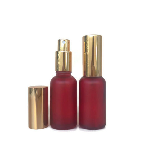 30ml Frosted Red Gold Spray Bottle