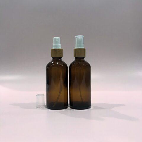 100ml Amber Bamboo Spray Bottle